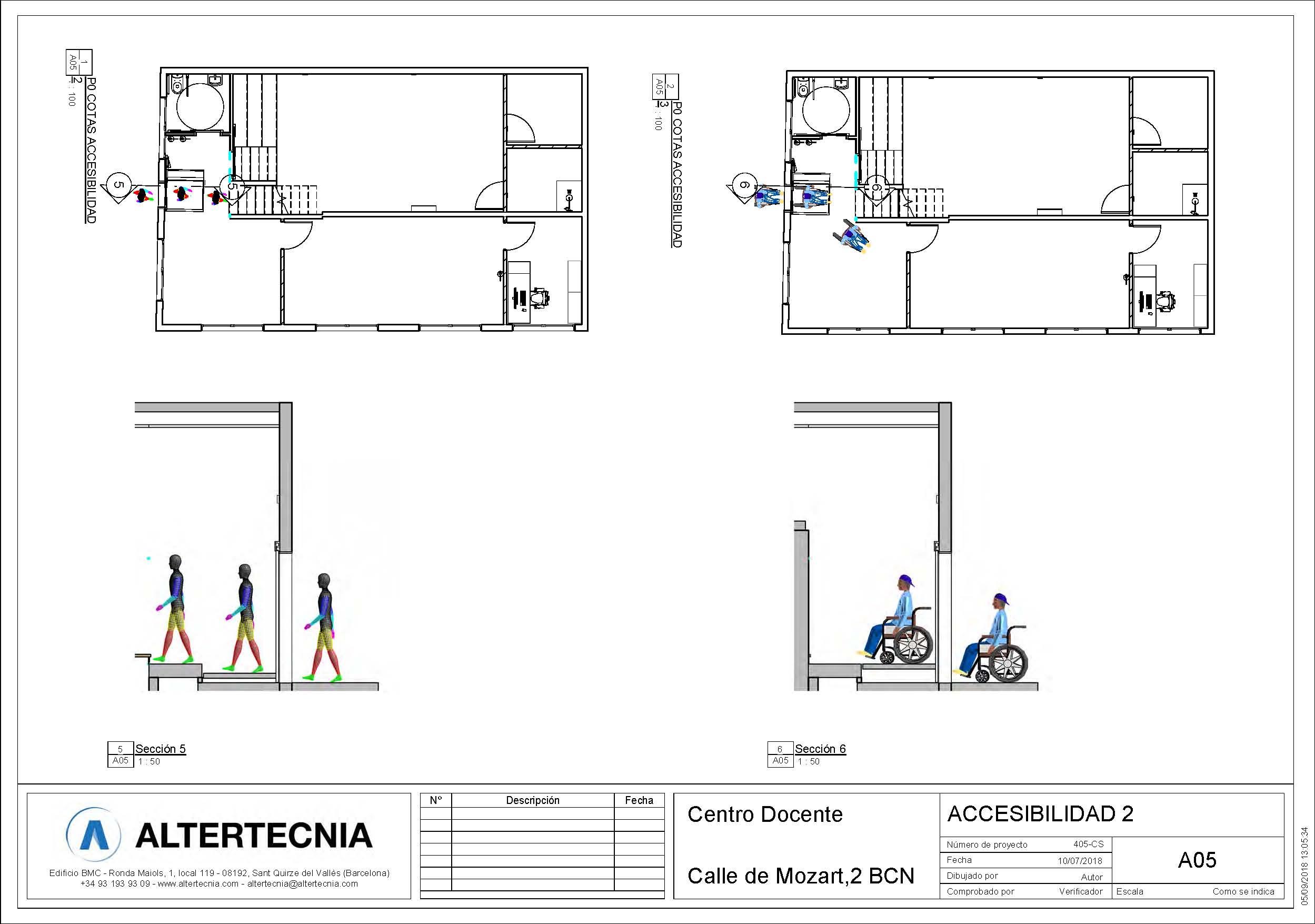 accesibilidad 2 licencias para la escuela de Andrea Vilallonga