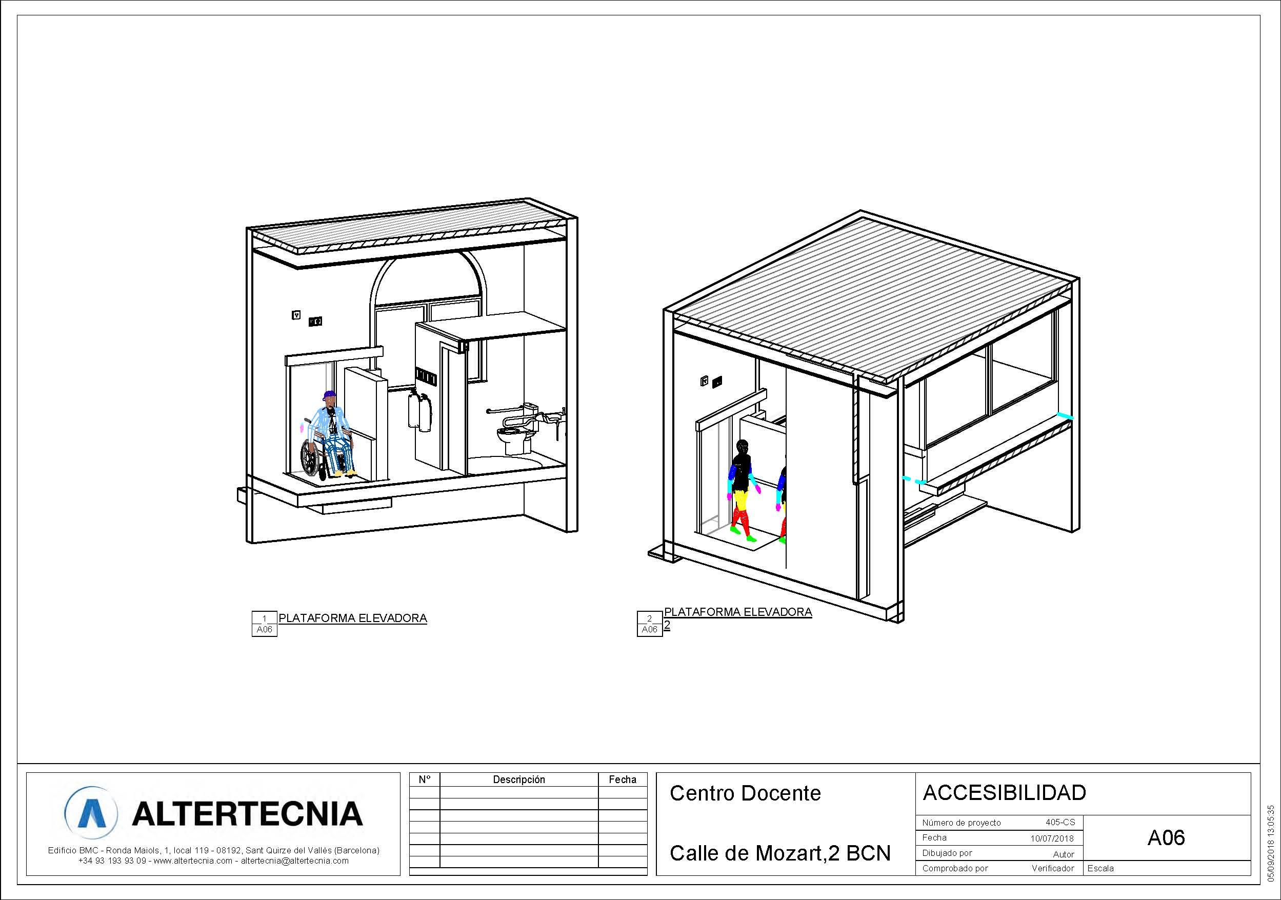 accesibilidad licencias para la escuela de Andrea Vilallonga