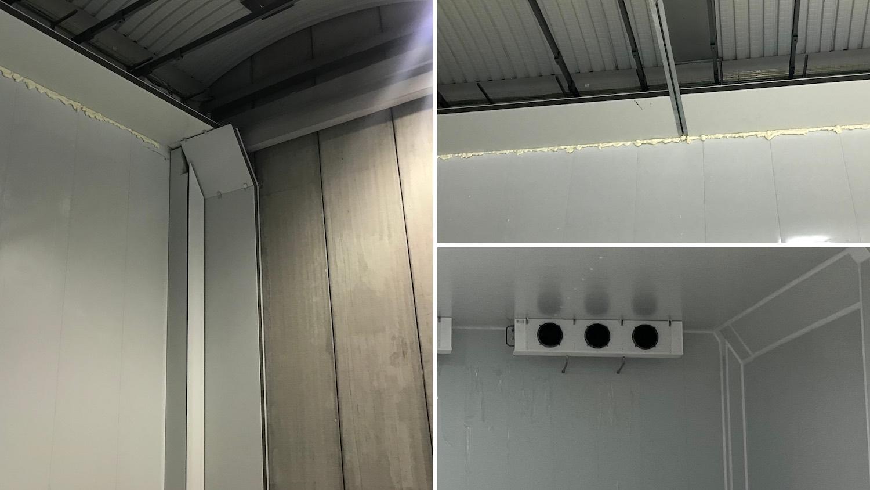 Cámara frigorífica eficiencia esquinas