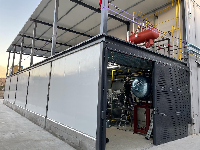 Cámara frigorífica sala de máquinas