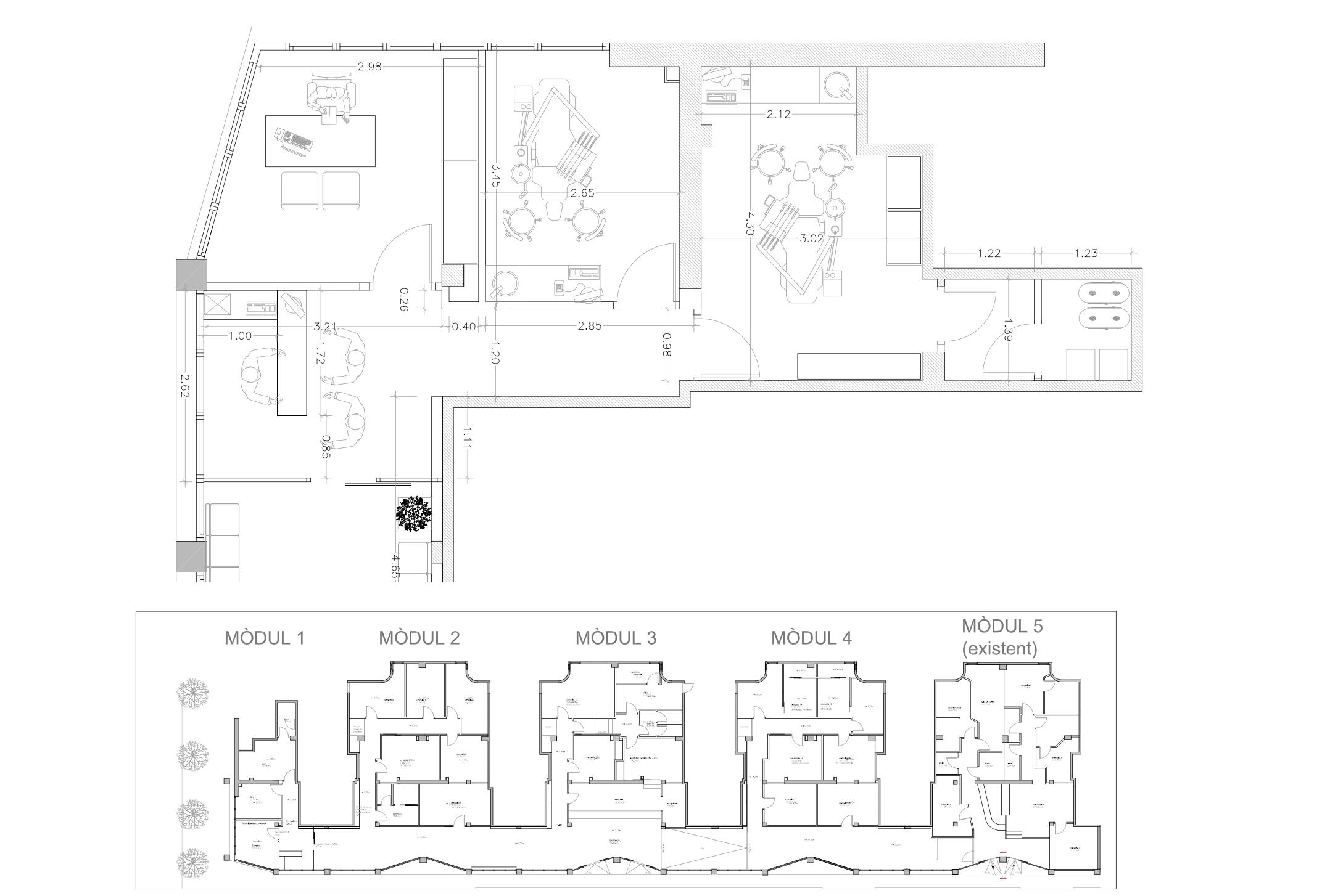 Centro médico en Sabadell planos ampliación