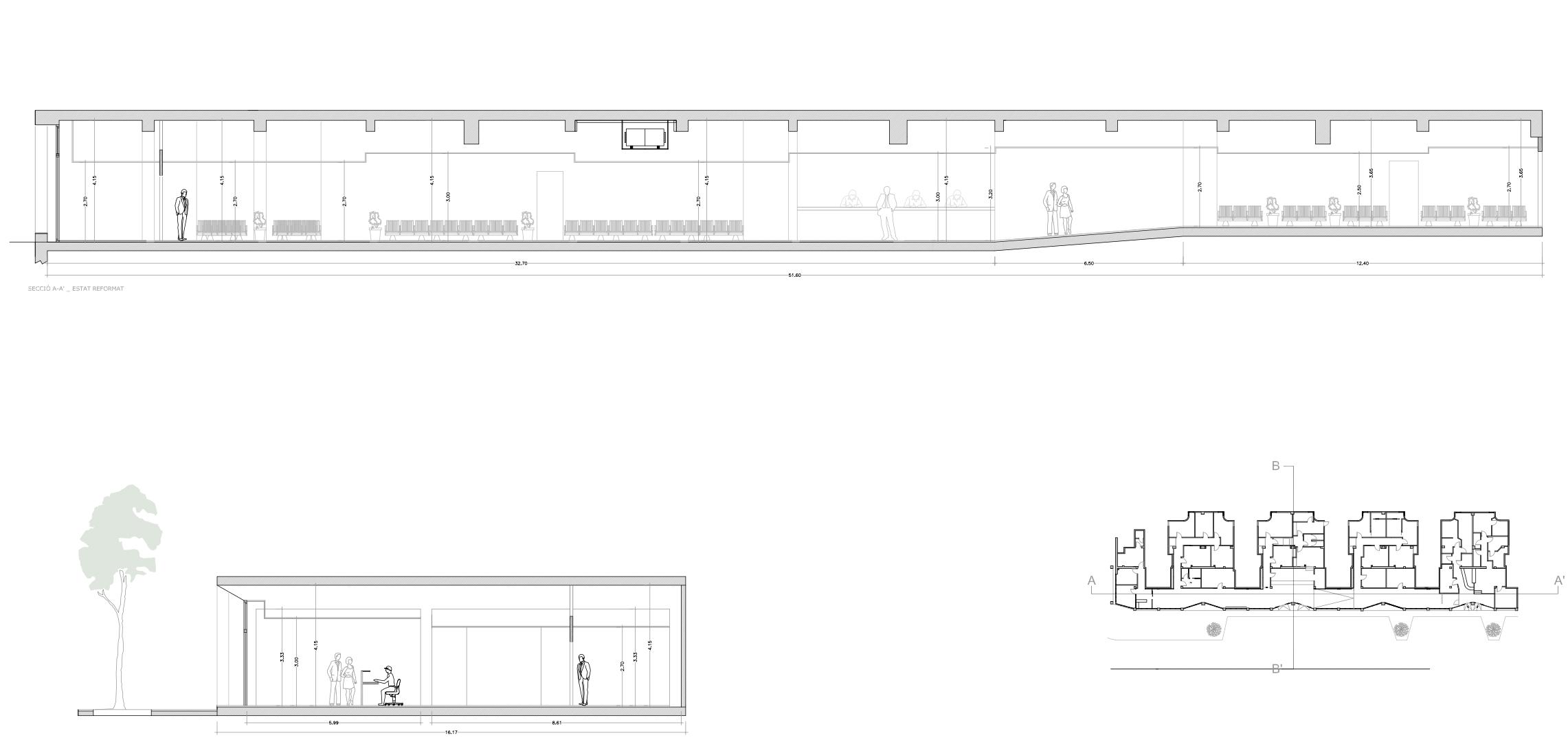 Centro médico en Sabadell planos fachada