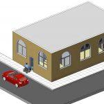 diseño edificio licencias para la escuela de Andrea Vilallonga