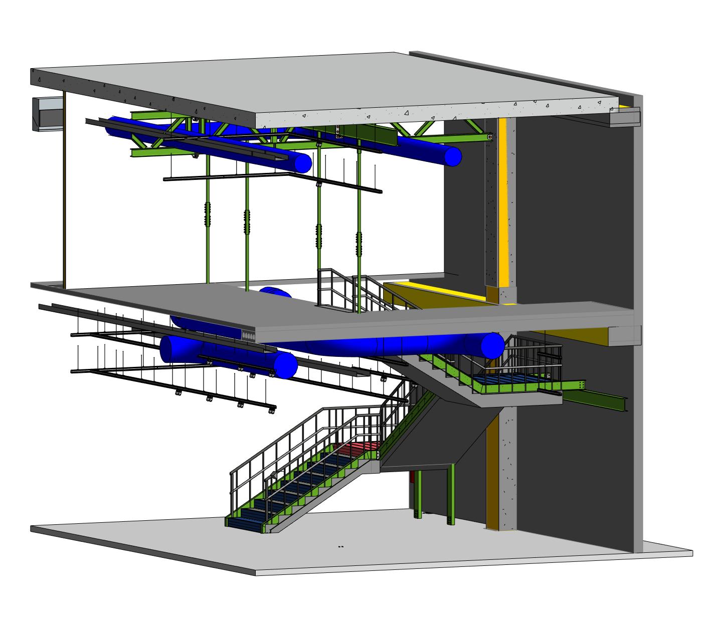 Escalera flotante Motocard CAD CAM 2