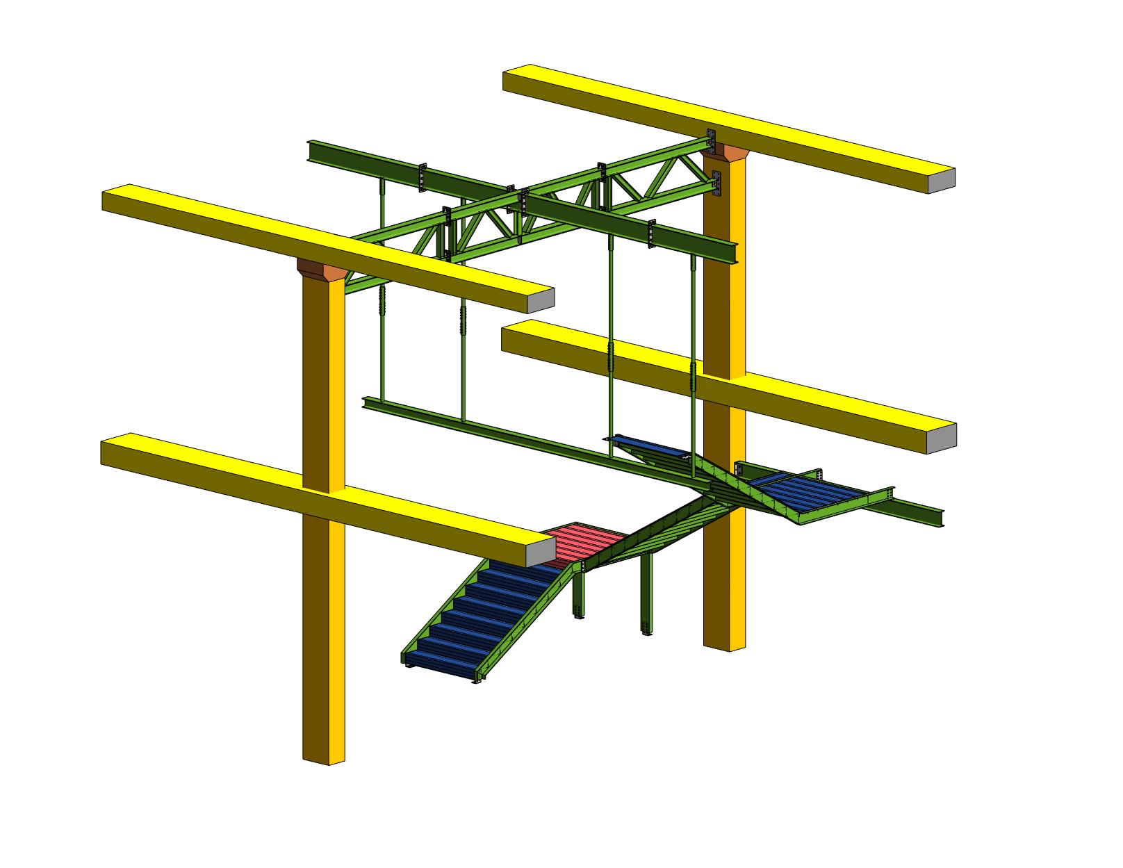 Escalera flotante Motocard CAD CAM 1