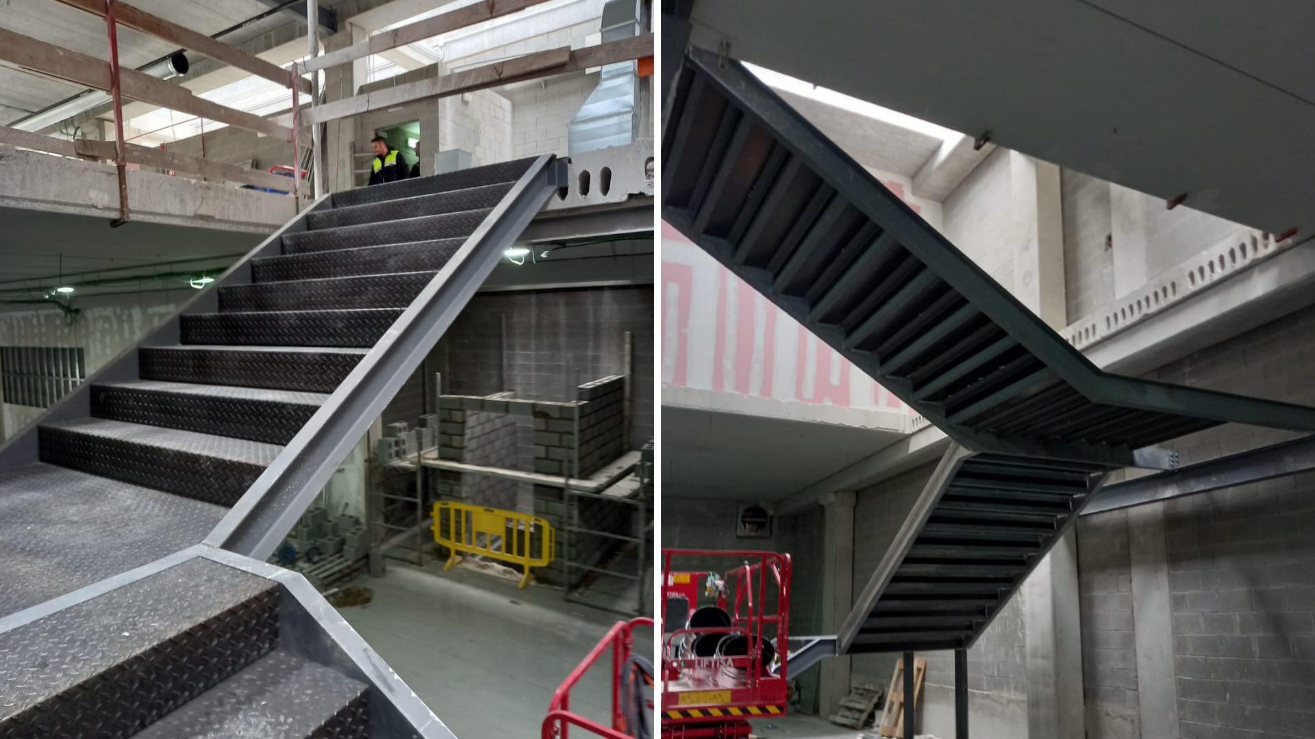Escalera flotante Motocard obras 5