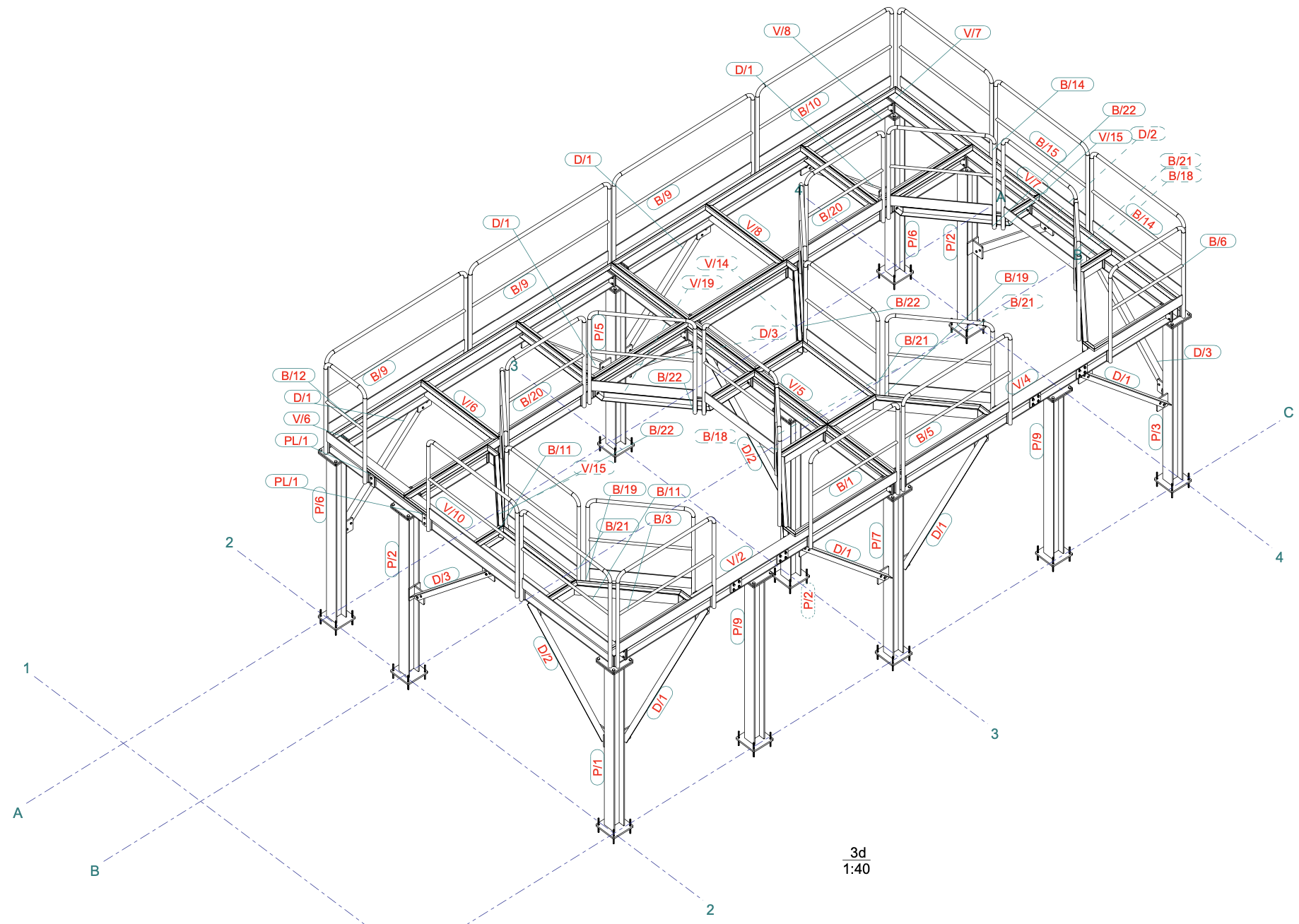 estructura pulpers plano