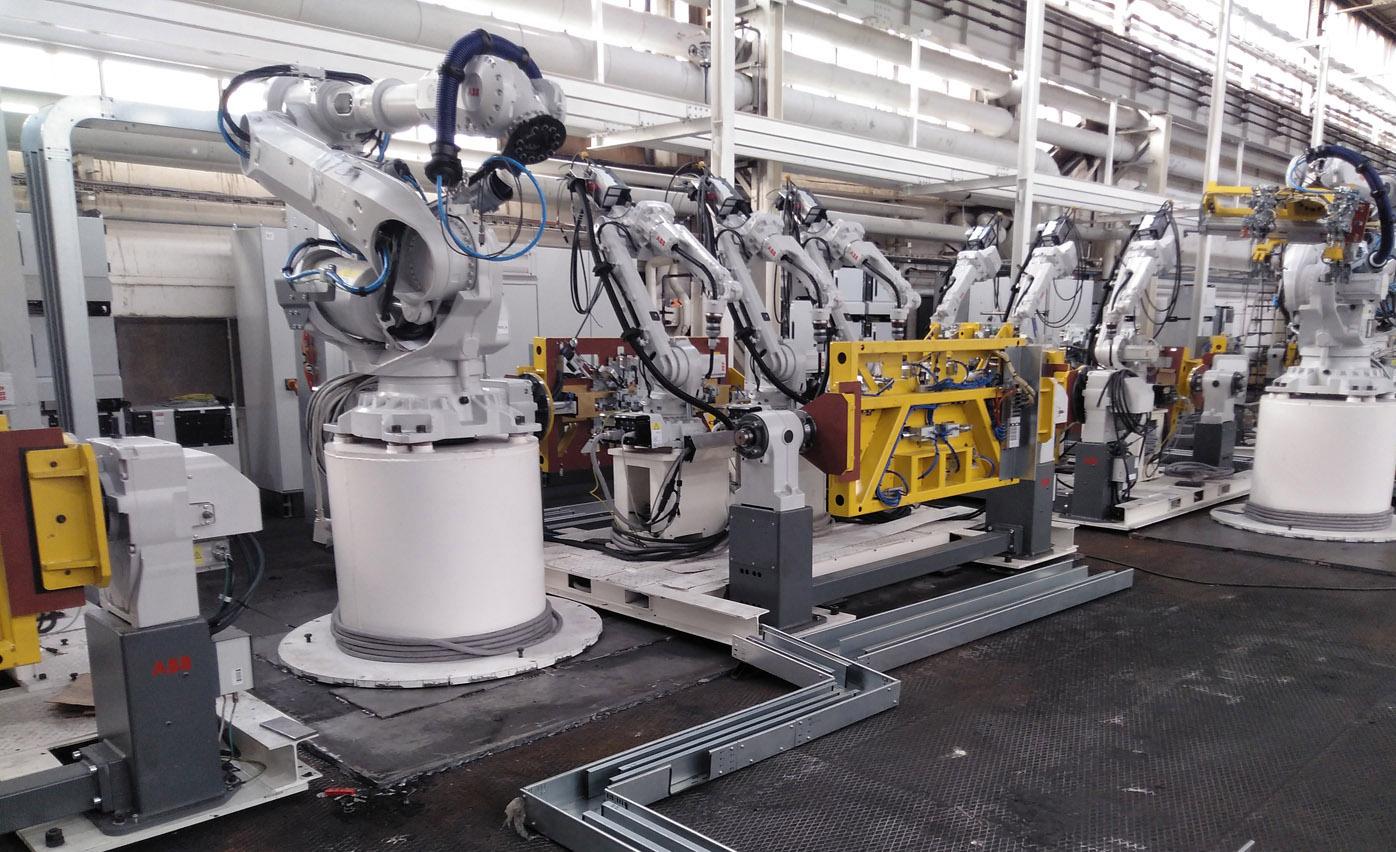 Robot planta bumper Project Management para empresa de automoción