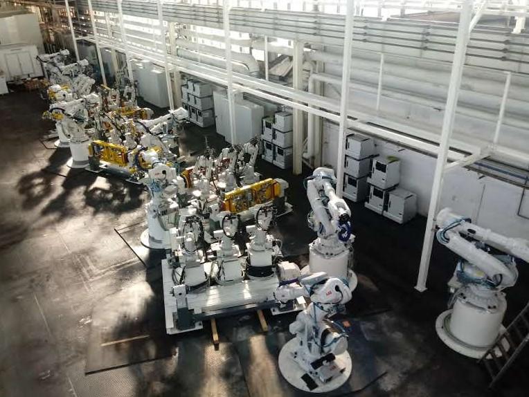 Robot soldador Project Management para empresa de automoción