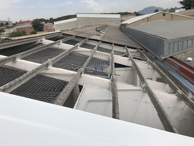 Rehabilitación nave industrial obras techo 2